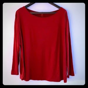 Tops - PLUS SIZE red long sleeves top